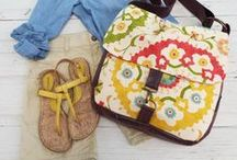 Style Inspiration / Ideas for how to pair everyday outfits with Rebekah Scott Designs bags and accessories!
