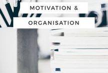 Motivation & Organisation / Tipps zu Motivation & Organisation - Bringe Ordnung in dein Leben, dein Büro, Schulalltag oder ins Studium! Auch perfekt für alle Selbstständigen & Girlbosses!
