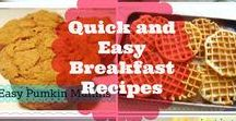 Easy Breakfast Recipes / Easy breakfast ideas that can be made ahead, for company or anytime. Some healthy and some not just plain decadent!