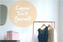 Copper - Do It Yourself / Panorama de créations DIY en cuivre. Copper DIY créations overview.