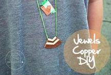 Jewels - Copper DIY / De doux bijoux en cuivre à fabriquer soi-même. Sweet homemade copper jewelery. #DIY