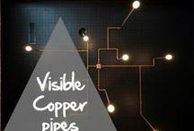 Copper pipes come out! / Quand les canalisations en cuivre deviennent des pièces maîtresses de nos intérieurs... When copper pipes become masterpieces for indoor decoration... / by Copper Mania