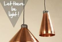 Let there be light! Copper lamps / Rien de tel que le cuivre pour faire briller sa maison d'un nouvel éclat ! / Nothing brings warmth and light in a home like copper!