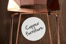 Copper furniture / Une chaise, une armoire, une table... les possibilités offertes par le cuivre en décoration sont infinies ! / Copper chair, copper wardrobe... the possibilities offered by copper are endless! / by Copper Mania