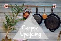 Copper Upcycling / Pour donner une nouvelle vie aux objets en cuivre de vos greniers, up-cyclez-les ! / Bring your old copper pots back to life : upcycle them!  / by Copper Mania