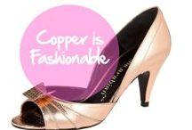 Copper is Fashionable / Le cuivre et la mode : une belle histoire qui ne fait que commencer ! / Copper is fashionable : dress, pants, accessories...