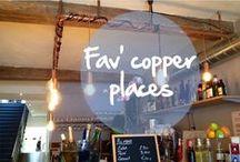 Fav' copper places in the world / Bars, restaurant, shops... Copper addicts can now find the red metal in various places... let's track them down ! Bar, restaurant, boutique... les adeptes du cuivre peuvent maintenant trouver le fameux métal rouge partout... c'est l'occasion de partir à la chasse aux lieux cuivrés !  #copper, #cuivre, #rame, #kupfer, #cobre