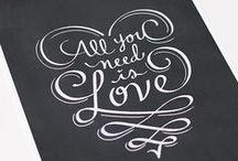 Fonts and more... / Fonts we love on items we love.