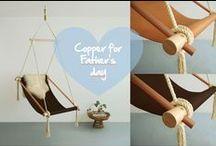 Copper for Father's day / Quoi de neuf pour la Fête des Pères? Sélection d'objets et d'accessoires en cuivre pour des papas branchés !!!!