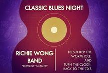 Classic Blues Night / We have brought you yet another experience of some eclectic Blues.  Richie Wong Band earlier known as Scalene is a charismatic band that comprises of 3 members - Ranjan Dewan - Bass , Amit Gurung- Drums/Percussion, Richie Wong – Vocals/guitars.  The band is very versatile when it comes to genre. They play Classic Rock, Blues and Jazz. Their performance have a lots of dancing numbers keeping their audiences glued to the dance floor.