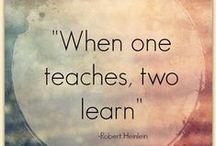 Oppiminen / Opetan, siis opin.