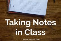 Note taking / Cornell notetaking, inspiration and other tips and tricks