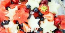 Patriotic recipes / 4th of July, Memorial Day, Veterans Day...So many reasons to celebrate our country with red, white and blue!