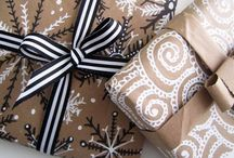 It's A Wrap! / Stylish Wrapping Paper / DIY Wrap Ideas / Creative Gift Tags / Gift Bags