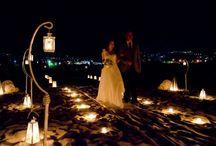 Candle light wedding theme