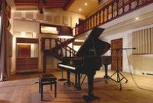 Acoustic Design – Recording Studios / Recording Studio design – control room, live rooms, recording rooms, iso booth, orchestral room. Room acoustics, interior design, audio engineering, audio equipment.