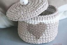 hekling kurver * crochet baskets