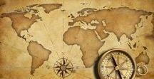 Instrumentos de Navegação: Mapas, Rotas & Roteiros. / O primeiro mapa de que se tem notícia foi feito numa tábua redonda de argila por volta de 2.300 a.C. na região da Mesopotâmia (atual Iraque)...