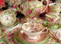 Tea Party / Beautiful and delicate chinaware. Reminder of a once favorite pastime:  the afternoon tea.