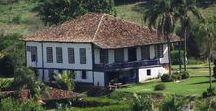 Casas de Fazendas / Casas sedes de fazendas, antigas, interiores e fachadas