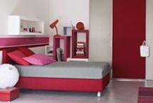 Flou for Kids / Flou beds are great for kids rooms or guest rooms. Most have removable covers, are available as storage beds, and  are offered in a variety of fabric options. Casegoods are available in a variety of options.