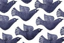 Design   Birds & Beasts / Animal & bird motifs as seen in handmade items and design projects, with the occasional cat