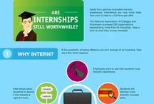 Internships / Use an internship to gain experience, try out a career field before committing the rest of your life to it, OR boost your resume. Did you know 87% of all college seniors have done at least one internship?  Kick start you career!