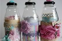 ♡ Bottle & Jars ♡ / Here you will see beautiful chic bottles * jars / by jazzi crafts