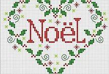 Point de croix Noel