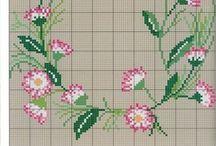 point de croix fleurs et plants