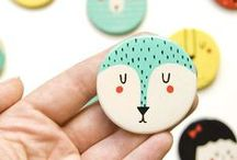 Handmade   Brooch / Pins, Pinback Buttons, & brooches made from different materials
