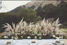 Fall weddings/Bodas otoñales / Brown leaves and pinneapples, soft orange and velvet..  Hojas y piñas de color chocolate, naranja suave y colores de otoño, terciopelo...