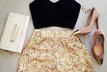 ** Black and gold ** / Clothes and accessories