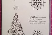 Snow Swirled, Stampin' Up! (Retired) / Christmas card ideas using Stampin Up's Snow Swirled stamp set lindaspapercraft.blogspot.co.uk