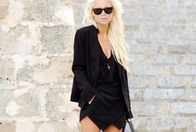 Black & white Monochrome outfits & streetstyle / Streetstyle and looks with black and white