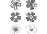 Flower Shop, Stampin Up! / Stamp set with coordinating punch