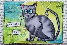 Scrapbooking - Crazy Cats by Tim Holtz