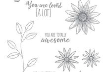 Grateful Bunch Stampin' Up! (Retired 2017) / Stampin' Up stamp set with matching punch