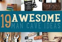 "DIY for Your Man Cave / Need ideas for your garage and/or any other location in your home that you define as your ""Man Cave""."