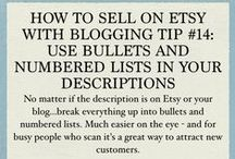Selling on Etsy With Blogging / Here's some insider strategies I've picked up on how to sell on etsy with good old blogging. Enjoy!