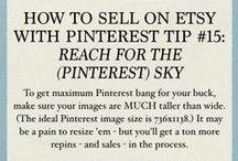 Selling on Etsy With Pinterest / Are you selling on Etsy? Well, then Pinterest is the best darn invention since the glue gun. Here is a collection of tips about how to sell on etsy with the fastest-growing social network in the world.