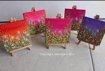 Mini canvas ideas / Simple painting ideas for mini canvases