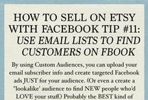 Selling on Etsy With Facebook / Tips and tricks for selling on Etsy with the most popular, for now, social network in the world.