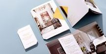 Kim Scodro Interiors / 16-page mini brochure, envelope and business cards