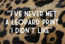 I ❤️ leopard print / All things animal