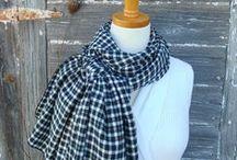Black, Gray, Platinum, Silver & White Scarve & Shawls
