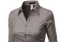 Gray Blouses, Shirts & Tops