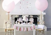 pink, peach + gold party / bridal shower, baby shower, birthday party inspiration