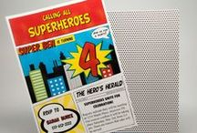 Superhero Party / Inspiration for children's superheor themed birthday parties.