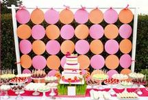 Pink + Orange Party / Inspiration for orange and pink themed celebrations.